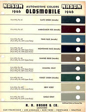 1946 OLDSMOBILE SERIES 60 SERIES 70 PAINT CHIPS NASON
