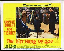 THE LEFT HAND OF GOD 11x14 HUMPHREY BOGART/LEE J. COBB orig lobby card poster
