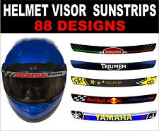 motorcycle motorbike helmet visor decal sticker graphic performance sun strip