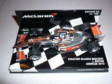 Minichamps F1 1/43 MCLAREN MERCEDES 2010 Showcar Jenson Button EDIZIONE LIMITATA