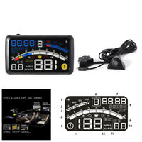 "5.5"" HUD Head-Up Car Dashboard Projector Speed Shift Gear Warning Speedometers"