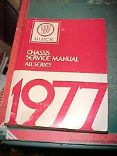 1977 BUICK ELECTRA RIVIERA CENTURY LESABRE REGAL CHASSIS SERVICE MANUAL vgood