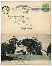 Cape of good hope 1903 machine à annuler couronne cc Kroonstad ppc afrique du sud