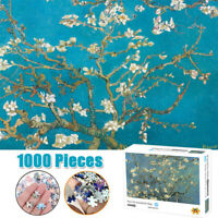 1000PCS Mini Jigsaw Puzzles Apricot Blossom Van Gogh Kids Educational Toy Gifts