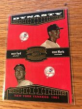 2004 Donruss Throwback Threads Dynasty D-4 Roger Maris Whitey Ford Baseball Card