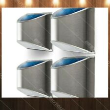 4 x HomeZone Outdoor Security Solar Wall Lights Weatherproof Step Lights Fence