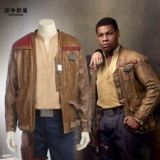 HZYM Star Wars The Last Jedi Finn Cosplay Leather Jacket Coat Custom Made