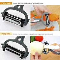 Hot 3 in 1 Rotary Fruit Vegetable Carrot Potato Peeler Cutter Slicer Brand New