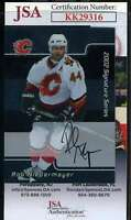 Rob Niedermayer JSA Coa Hand Signed 2002 In The Game Autograph