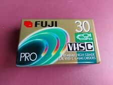 Fuji Pro VHS-C TC-30 Camcorder Videocassette New Sealed