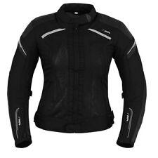 Damen Motorrad Jacke Motorradjacke Textil Schwarz Gr.S M L XL XXL