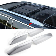 4PCS Silver Roof Rack Rail End Cover Shell For Toyota Highlander XU40 08-13
