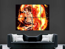 ONE PIECE ACE MANGA ART enorme Muro Gigante Poster
