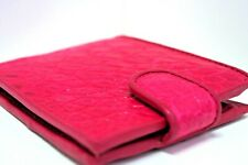 NEW GENUINE CROCODILE SKIN LEATHER BIFOLD PINK BUTTON ZIP WALLET UNIQUE CITES