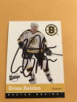 Brian Rolston Signed 00/01 Vintage Boston Bruins Card #26