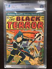BLACK TERROR #1 CBCS FN/VF 7.0; CM-OW; 1st Crime Crushers (Winter 1942-43)!