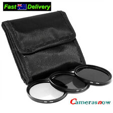 58mm Neutral Density Filter Kit ND2 ND4 ND8 Case for Canon 18-55mm 55-250mm lens
