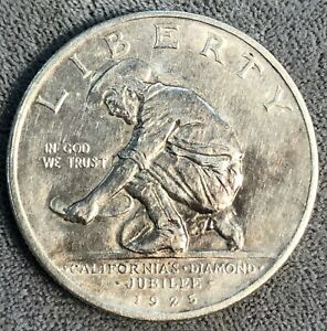 1925-S California Diamond Jubilee Commemorative Silver Half Dollar.