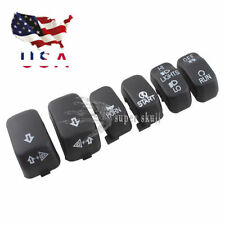 6 Pc Hand Control Switch Housing Button Cover Cap Kit for Harley 96-13 Black US