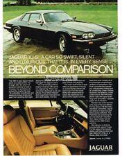 1982 Jaguar XJ-S Black Vtg Print Ad #1