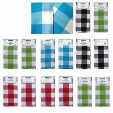 Set of 4 Checkered 100% Cotton Kitchen Drying Glass Cloth Tea Towels 50x70cm