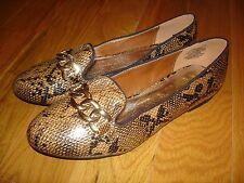 Wanted Payton Brown/Black PYTHON Snake Print Flats Shoes Womens 8 NEW