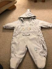 Mamas &papas Pale Blue  Snowsuit Age 3/6 Months