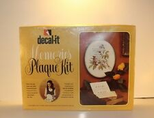 Vintage Craft Kit Decoupage Decal-it Memories Plaque Arts and Crafts Item 1970s