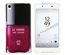 Case f Sony Xperia Z5 Schutzhülle Tasche Cover Etui Nagellack Flasche rot
