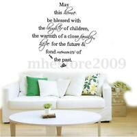 Quote Word Decal Vinyl DIY Home Room Decor Art Wall Stickers Bedroom Removable !