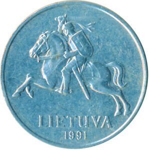 1991 LITHUANIA / LIETUVA / 5 CENTAI       #WT5851