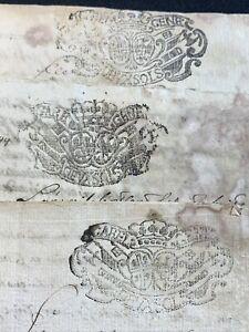 LOT OF THREE ANTIQUE MANUSCRIPTS 1700s