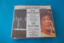 ELLA FITZGERALD-THE PLATTERS 2 COMPACT DISC PACK SEALED RARO