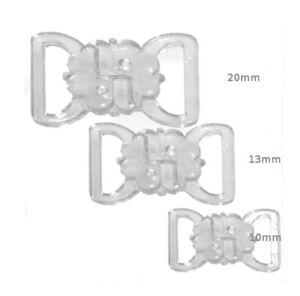 Plastic bikini/bra clasp/clips - choose from 3 sizes FREE P&P
