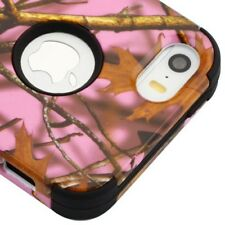 For Apple iPhone 5 5S SE Impact HYBRID Armor Rubber Rugged Case Phone Cover Disc