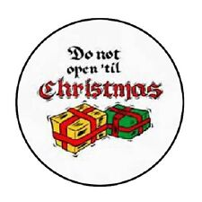 """48 Do Not Open Til Christmas #4 !!!  ENVELOPE SEALS LABELS STICKERS 1.2"""" ROUND"""