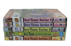 BRO TOWN Series 1-5 Season 1 2 3 4 5 DVD COLLECTION New Zealand Comedy Animation