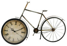 Metal Wall Art Old Fashioned Bicycle Clock Ornament Vintage Large Antique Style