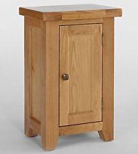 Devon small 1 door storage cupboard solid oak hallway furniture
