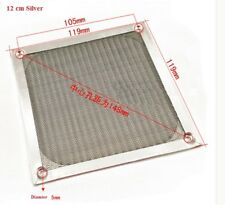 120mm Aluminum Dustproof Filter Dust Grill Guard For PC Cooling Fan Silver