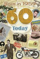 60th Birthday Card 1959 Year You Were Born Male Year Facts Inside Card