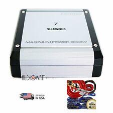 Kenwood KAC-D3104 600W Max Power 4-Ohms 4-Channel Amplifier + 4-Ch 2500W Amp Kit