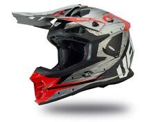 UFO Intrepid Motocross Helmet Grey Red - Large (59-60cm)