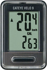 CATEYE VELO 9--CC-VL820 BLACK BICYCLE SPEEDOMETER COMPUTER