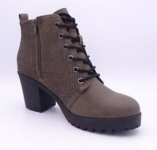 Call It Spring Drerinna Women's Khaki High Heeled Ankle Boots Size UK 6 EUR 39