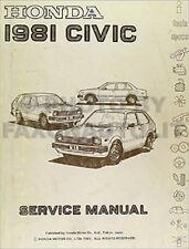 1981 Honda Civic Repair Shop Manual Original 81