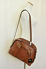 Frye Lucy Domed Satchel Convertible Handbag Cognac Brown DB0620 NEW NWT $428