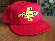 Vintage Santa Fe Snapback Cap Railroad Train Truckers Hat Mesh Red