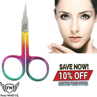 Pro Stainless Steel Eyebrow Scissors Hair Removal Trimmer Curved Clipper Cutter