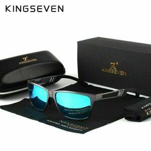 Kingseven Herren HD Polarisiert Sonnenbrille 100% UV400 -Fahren Pilotenbrille